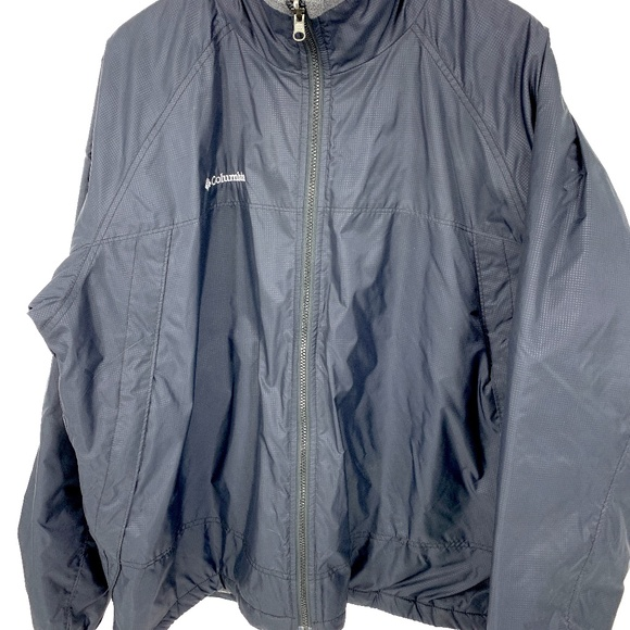 Columbia Fleece Lined Windbreaker Jacket XL